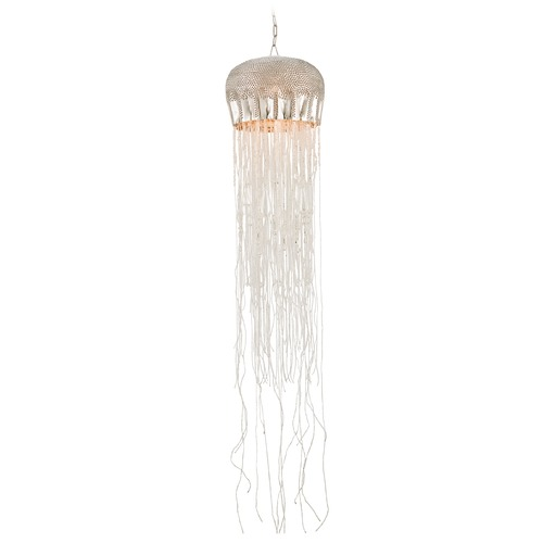 Currey and Company Lighting Currey and Company Lighting Medusa Nickel / Clear Pendant Light 9551
