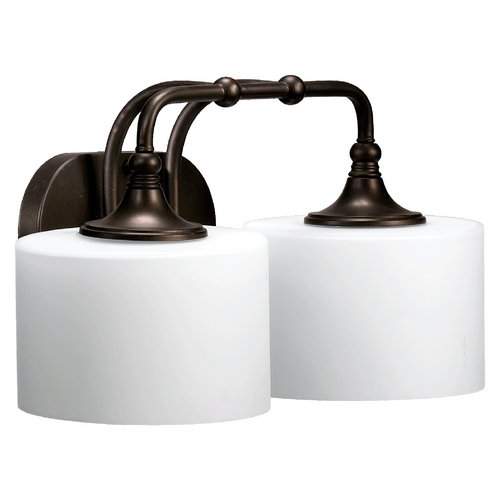 Quorum Lighting Quorum Lighting Rockwood Oiled Bronze Oiled Bronze Bathroom Light 5090-2-86