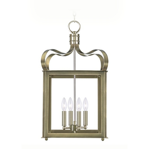 Livex Lighting Livex Lighting Garfield Antique Brass Pendant Light 4314-01