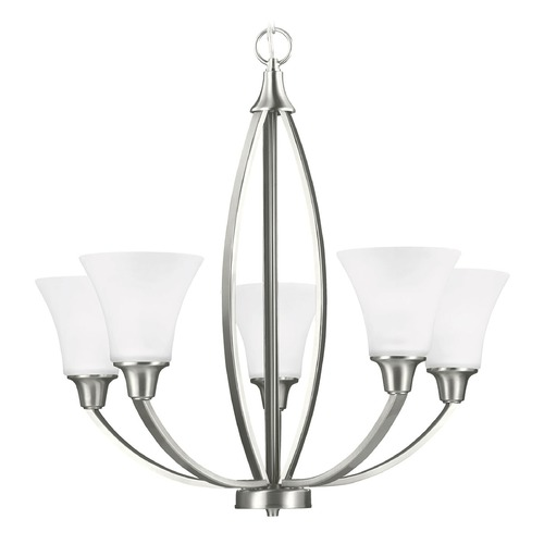 Sea Gull Lighting Sea Gull Lighting Metcalf Brushed Nickel Chandelier 3113205-962