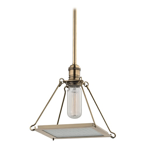 Hudson Valley Lighting Thorndike 1 Light Mini-Pendant Light - Aged Brass 3521-AGB