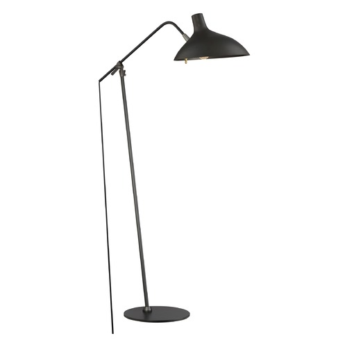 Quoizel Lighting Quoizel Lighting Quoizel Portable Lamp Black Floor Lamp with Bowl / Dome Shade Q2310F1