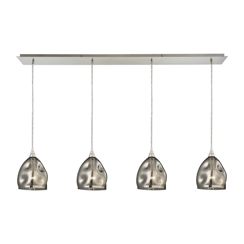Elk Lighting Elk Lighting Niche Satin Nickel Multi-Light Pendant with Bowl / Dome Shade 31596/4LP