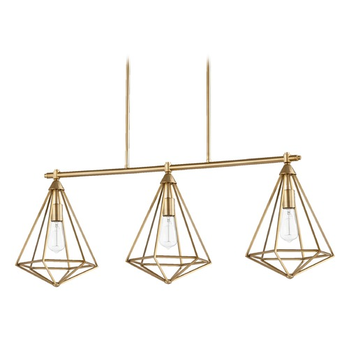 Quorum Lighting Quorum Lighting Bennett Aged Brass Island Light 6311-3-80
