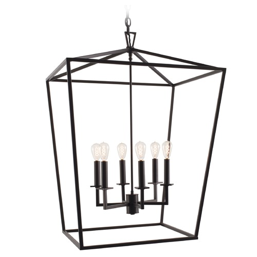 Norwell Lighting Norwell Lighting Cage Matte Black Pendant Light 1082-MB-NG