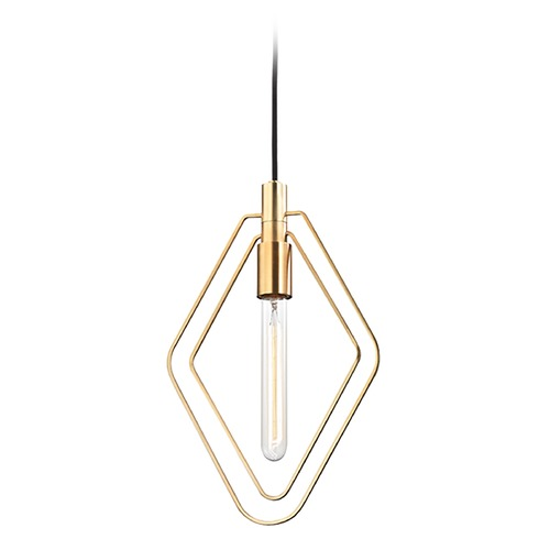 Hudson Valley Lighting Hudson Valley Lighting Masonville Aged Brass Pendant Light 3040-AGB