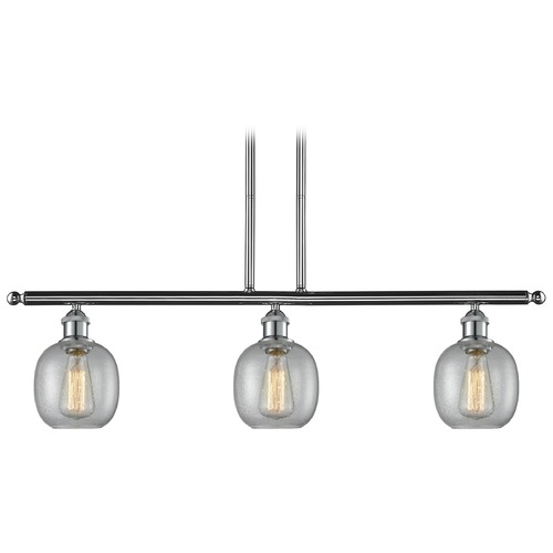 Innovations Lighting Innovations Lighting Belfast Polished Chrome Island Light with Globe Shade 516-3I-PC-G104