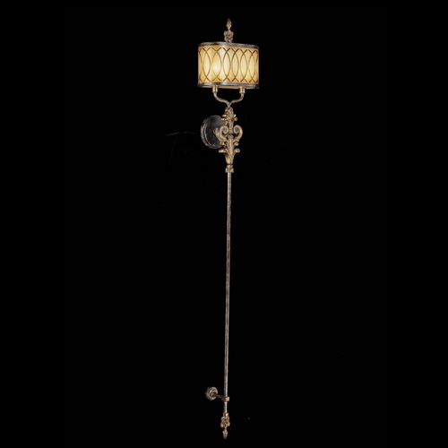 Metropolitan Lighting Sconce Wall Light with Amber Glass in Aged Patina / Gold Leaf Finish N6482-270
