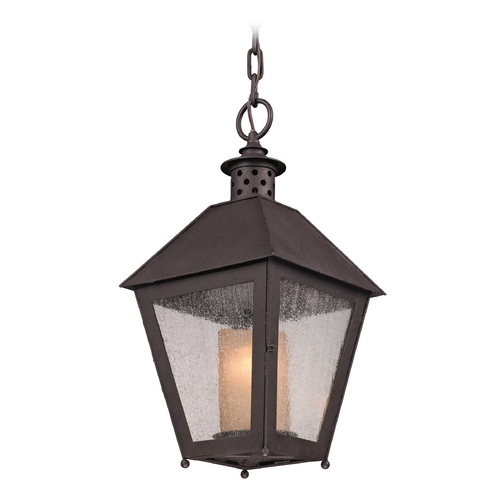 Troy Lighting Outdoor Hanging Light in Centennial Rust Finish FF3297