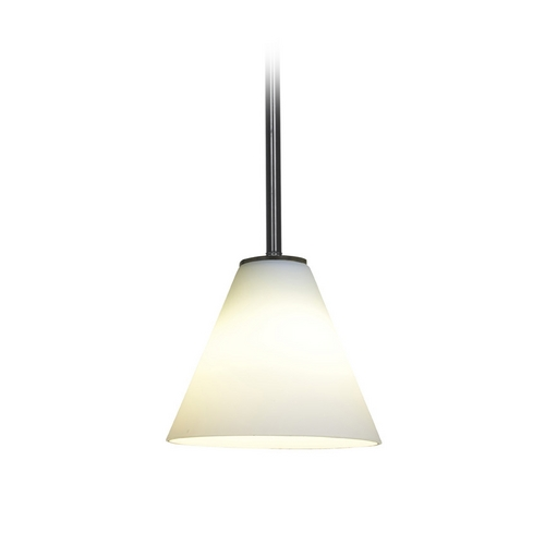 Access Lighting Modern Mini-Pendant Light with White Glass 28004-2R-ORB/WHT