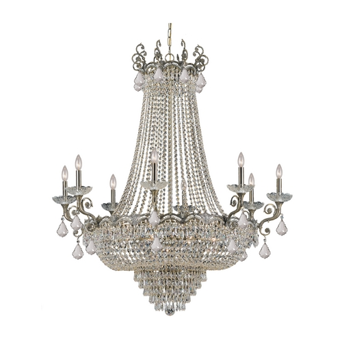 Crystorama Lighting Crystal Chandelier in Historic Brass Finish 1488-HB-CL-MWP
