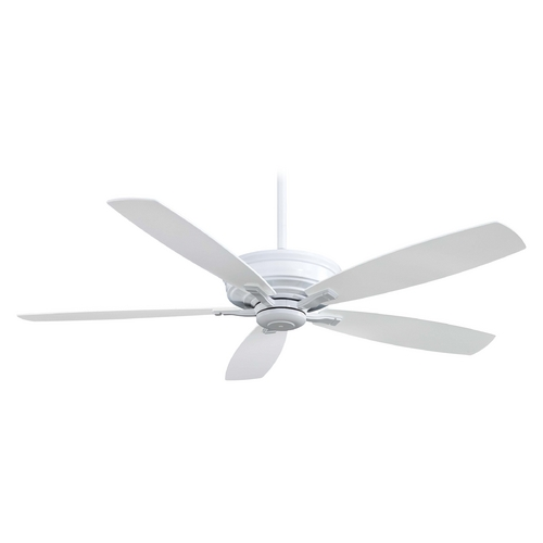 Minka Aire 60-Inch Ceiling Fan Without Light in white Finish F696-WH