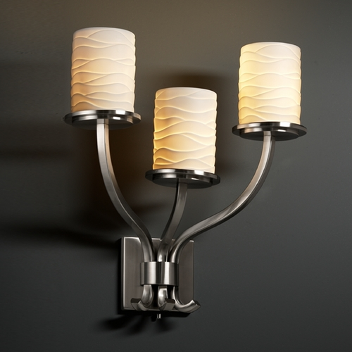 Justice Design Group Justice Design Group Limoges Collection Sconce POR-8783-10-WAVE-NCKL