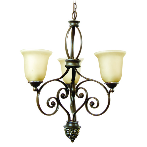 Jeremiah Lighting Jeremiah Mia Aged Bronze, Vintage Madera Chandelier 7524AGVM3