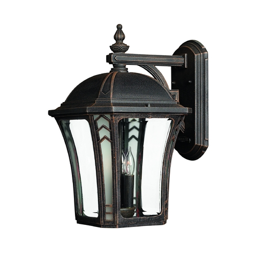 Hinkley Lighting Outdoor Wall Light with Clear Glass in Mocha Finish 1335MO