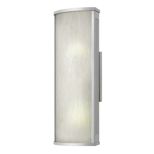 Hinkley Lighting Outdoor Wall Light with White Glass in Titanium Finish 2114TT