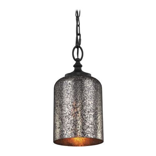 Feiss Lighting Feiss Lighting Hounslow Oil Rubbed Bronze Mini-Pendant Light with Cylindrical Shade P1320ORB