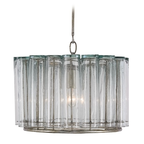 Currey And Company Bathroom Lighting: Currey And Company Lighting Bevilacqua Silver Leaf Pendant