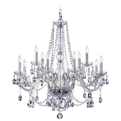 Quorum Lighting Quorum Lighting Bohemian Katerina Chrome Crystal Chandelier 630-12-514