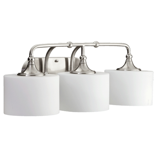 Quorum Lighting Quorum Lighting Rockwood Satin Nickel Bathroom Light 5090-3-65