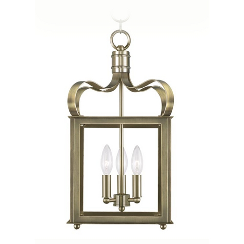 Livex Lighting Livex Lighting Garfield Antique Brass Pendant Light 4313-01