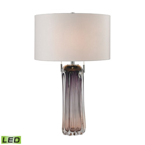 Dimond Lighting Dimond Lighting Purple LED Table Lamp with Drum Shade D2661W-LED