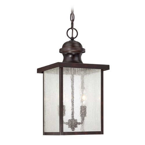 Savoy House Seeded Glass Outdoor Hanging Light Bronze Savoy House 5-603-13