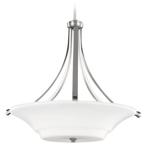 Feiss Lighting Feiss Lighting Summerdale Satin Nickel Pendant Light F2983/3SN