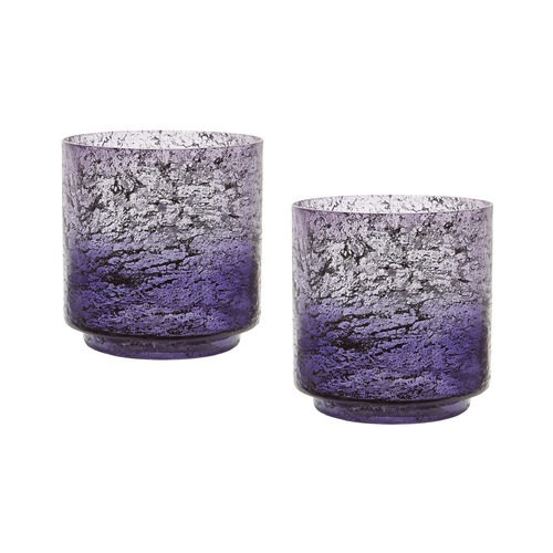 Dimond Lighting Plum Ombre Hurricane - Set Of 2 876030/S2