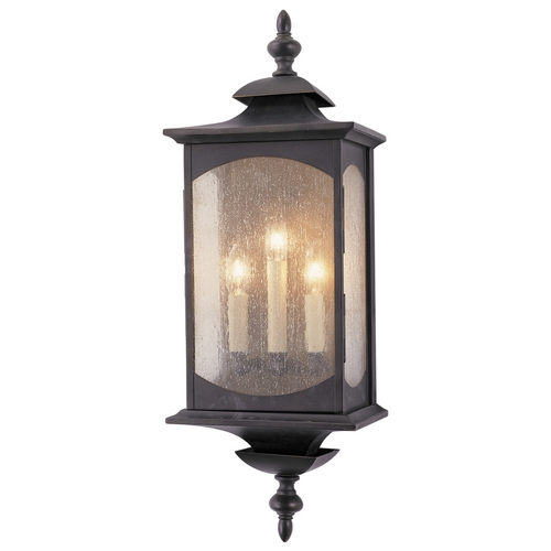 Feiss Lighting Outdoor Wall Light with Clear Glass in Oil Rubbed Bronze Finish OL2602ORB