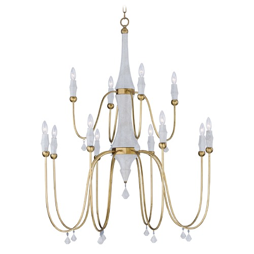 Maxim Lighting Maxim Lighting Claymore Claystone and Gold Leaf Chandelier 22438CSTGL