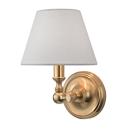 Hudson Valley Lighting Hudson Valley Lighting Sidney Aged Brass Sconce 3221-AGB