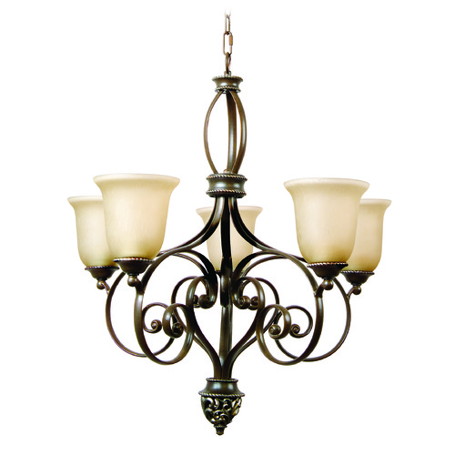 Craftmade Lighting Craftmade Mia Aged Bronze, Vintage Madera Chandelier 7527AGVM5