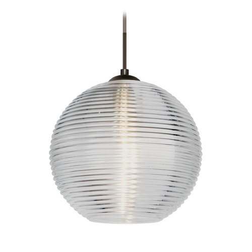 Besa Lighting Besa Lighting Kristall Bronze LED Pendant Light with Globe Shade 1JT-461600-LED-BR