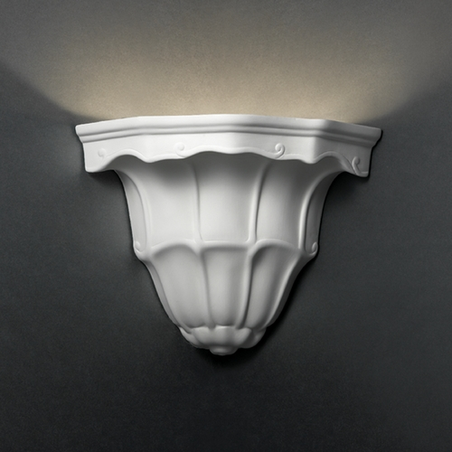 Justice Design Group Sconce Wall Light in Bisque Finish CER-1470-BIS