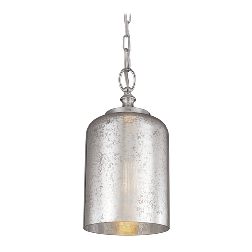 Feiss Lighting Feiss Lighting Hounslow Polished Nickel Mini-Pendant Light with Cylindrical Shade P1320PN