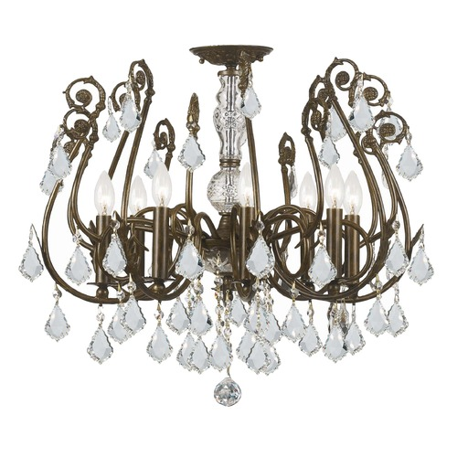 Crystorama Lighting Crystorama Lighting Regis English Bronze Semi-Flushmount Light 5118-EB-CL-S