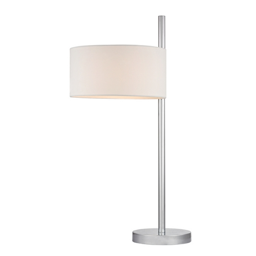 Dimond Lighting Modern Table Lamp with White Shades in Polished Nickel Finish D2472