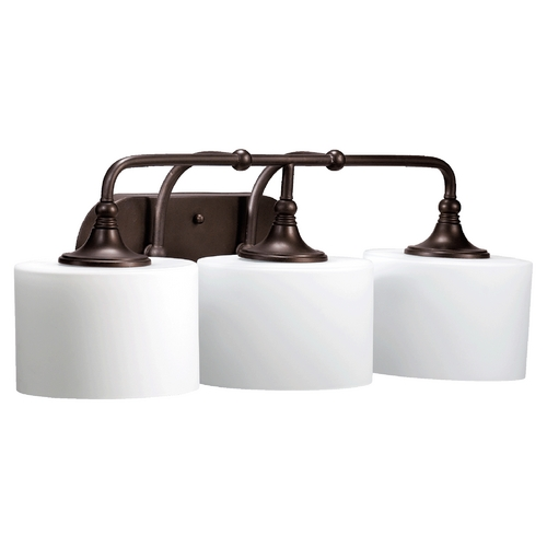 Quorum Lighting Quorum Lighting Rockwood Oiled Bronze Bathroom Light 5090-3-86