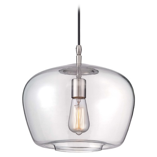 Minka Lavery Minka Mini Pendants Brushed Nickel Pendant Light with Bowl / Dome Shade 2260-84