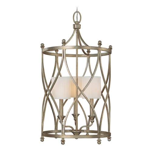 Capital Lighting Capital Lighting Fifth Avenue Winter Gold Pendant Light with Cylindrical Shade 9082WG-484