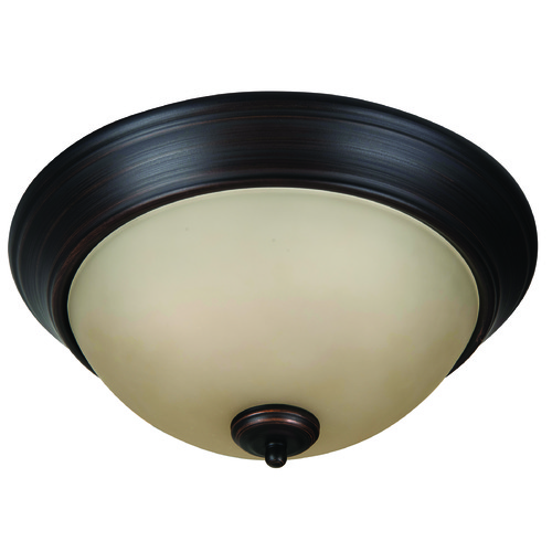 Jeremiah Lighting Jeremiah Pro Builder Flush Aged Bronze Brushed Flushmount Light XP13ABZ-2A