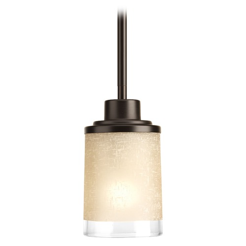 Progress Lighting Progress Lighting Alexa Antique Bronze Mini-Pendant Light with Cylindrical Shade P5147-20