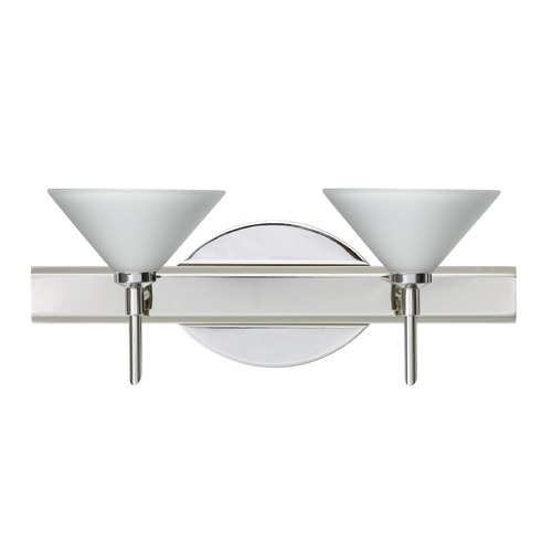 Besa Lighting Besa Lighting Kona Chrome LED Bathroom Light 2SW-117607-LED-CR