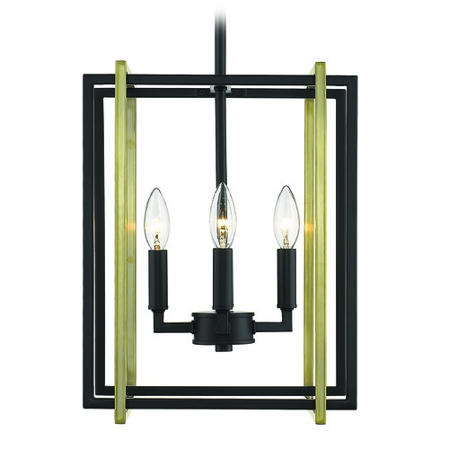 Golden Lighting Golden Lighting Tribeca Black Mini-Chandelier 6070-4BLK-AB