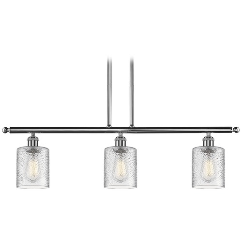 Innovations Lighting Innovations Lighting Cobbleskill Polished Chrome Island Light with Cylindrical Shade 516-3I-PC-G112