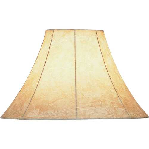 Lite Source Lighting Faux Leather Bell Lamp Shade with Spider Assembly CH116-16