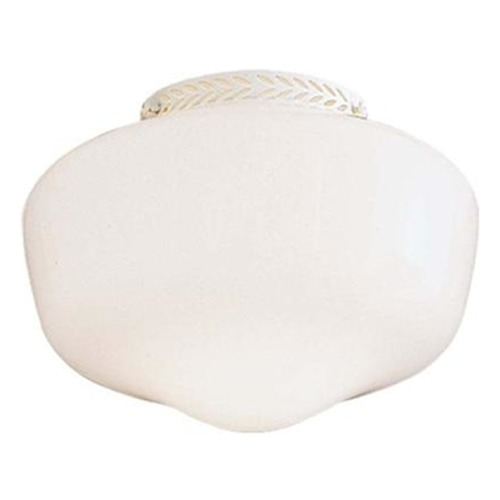 Minka Aire Fans Light Kit with White in White Finish K1099-1-L-44