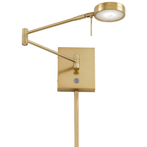 George Kovacs Lighting Modern LED Swing Arm Lamp in Honey Gold Finish P4308-248