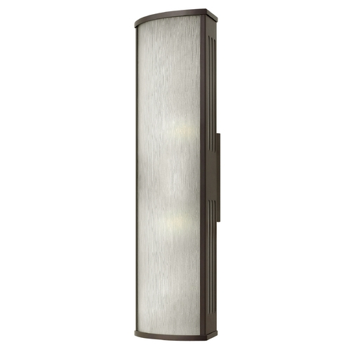 Hinkley Lighting Outdoor Wall Light with White Glass in Bronze Finish 2115BZ